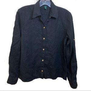Ralph Lauren Long Sleeve Button Down Shirt Linen S